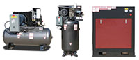 5 to 100 Horsepower (hp) Rotary Screw Compressors